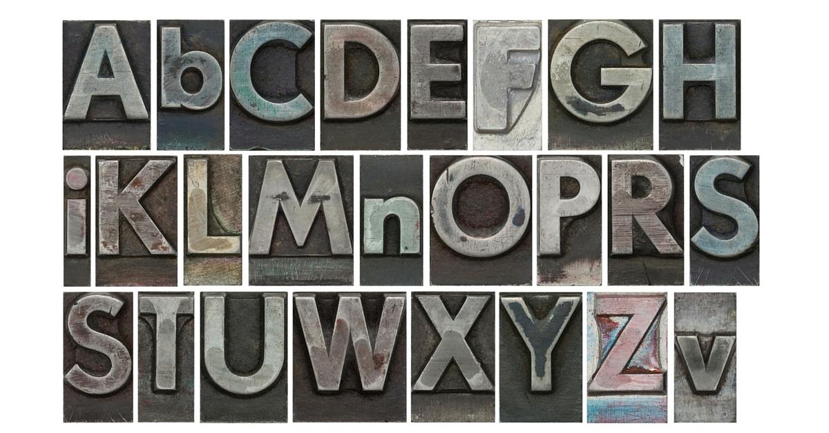 lettere colorate font